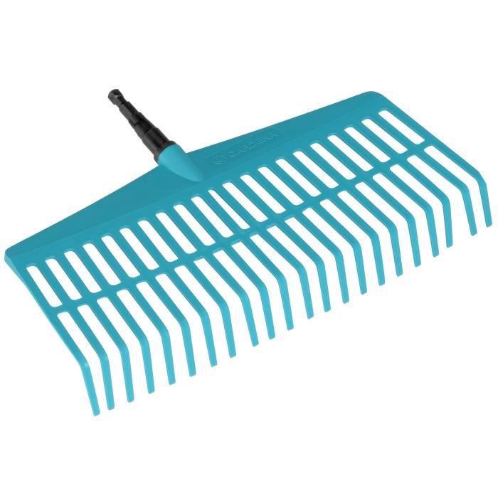 GARDENA Balai-râteau 43cm Combisystem® - Plastique solide - 22 dents – Ratissage petite surface herbe – Garantie 25 ans (3101-20)