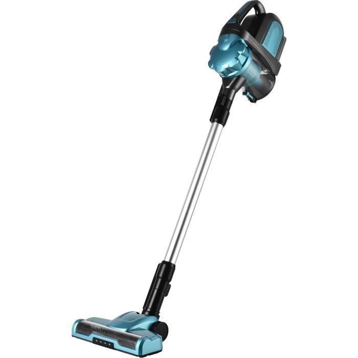 KALORIC HVC 1001 Mini-aspirateur balai / à main sans fil - Autonomie 50 min - Bleu et noir