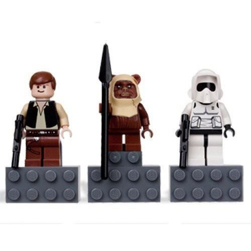 LEGO STAR WARS Magnet Set: Han Solo, Paploo and Scout Trooper - LEGO Star Wars Magnet Set - Han Solo, Papuru, scout trooper] 852 845