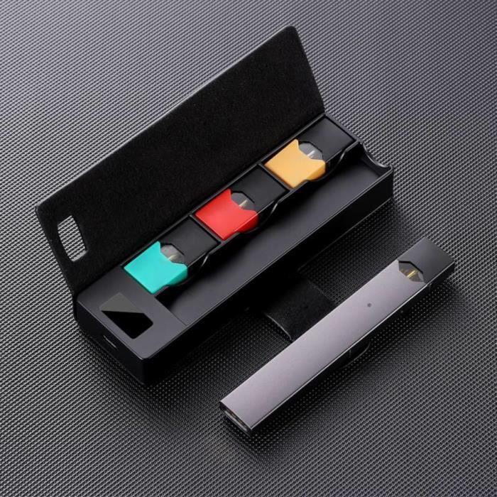 NEUFU LCD Boite de Chargeur Portable Banque de Puissance 1200mAh 3 Pods pour JUUL Noir
