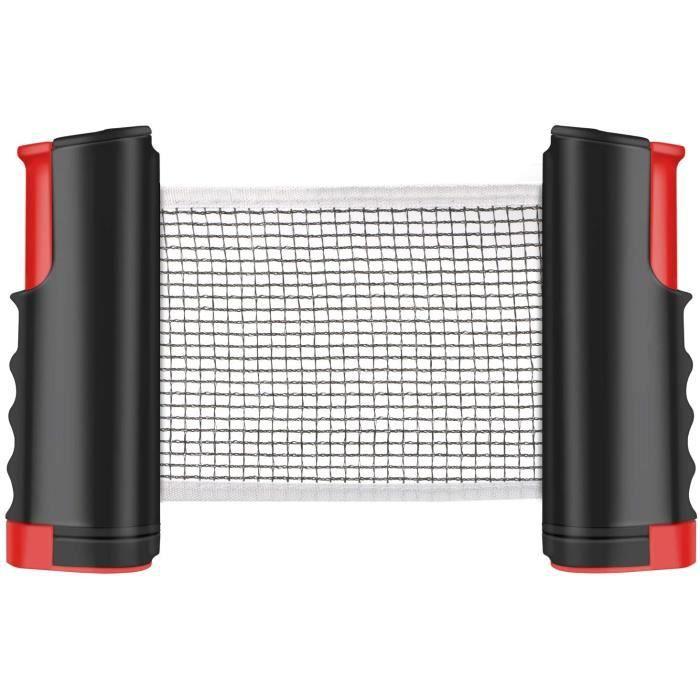 Filet de Ping Pong, Filet de Tennis de Table Rétractable pour Table d'extérieur Filet Réglable Filet de Voyage Portable, Accessoires