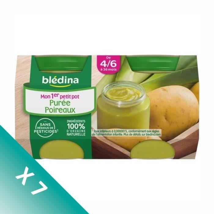 [LOT DE 7] BLEDINA Mon 1er Petit Pot Pomme de terre poireaux - 2x130g - Dès 4/6 mois