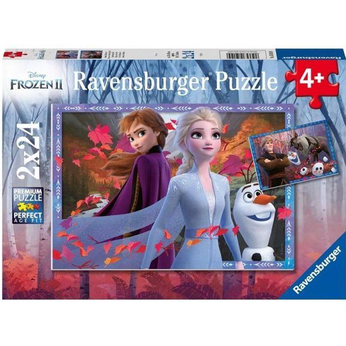 Puzzles 2x24 p - Vers des contrées glacées / Disney Reine des Neiges 2
