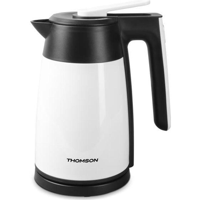 THOMSON - THKE09109W - Bouilloire Electrique Isotherme - 1,7 Litres - 2200 Watts - Coloris Blanc