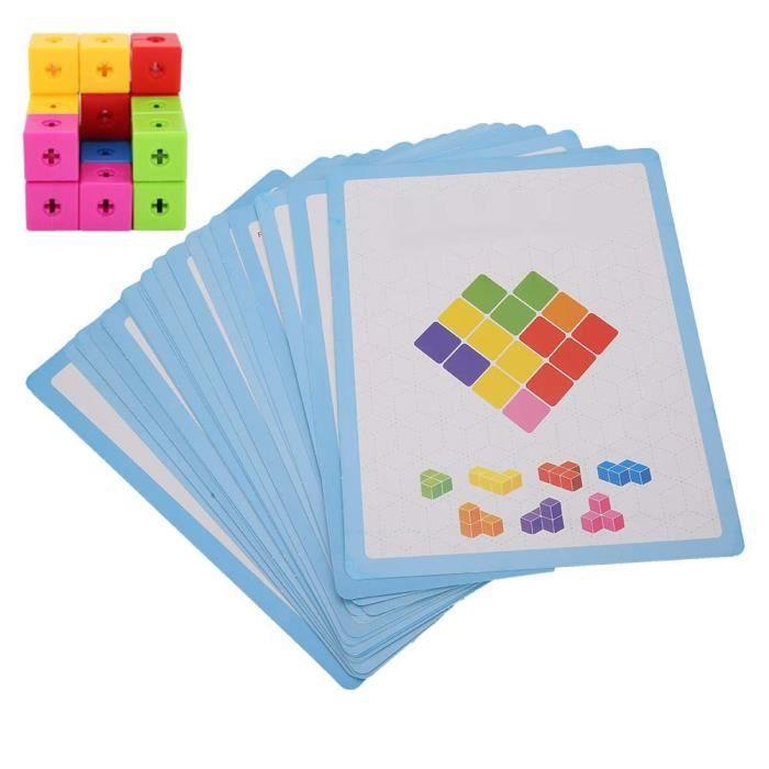 ZJCHAO Cadeau enfant Les enfants assemblent des blocs de construction briques colorées jouets éducatifs de la petite enfance 3D