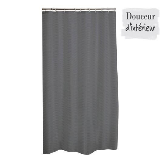 rideau de douche tissu uni diamant 180x200 cm anthracite achat vente rideau de douche. Black Bedroom Furniture Sets. Home Design Ideas
