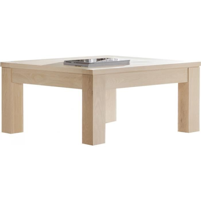 Table Basse Carr E Ch Ne Massif Naturel Achat Vente