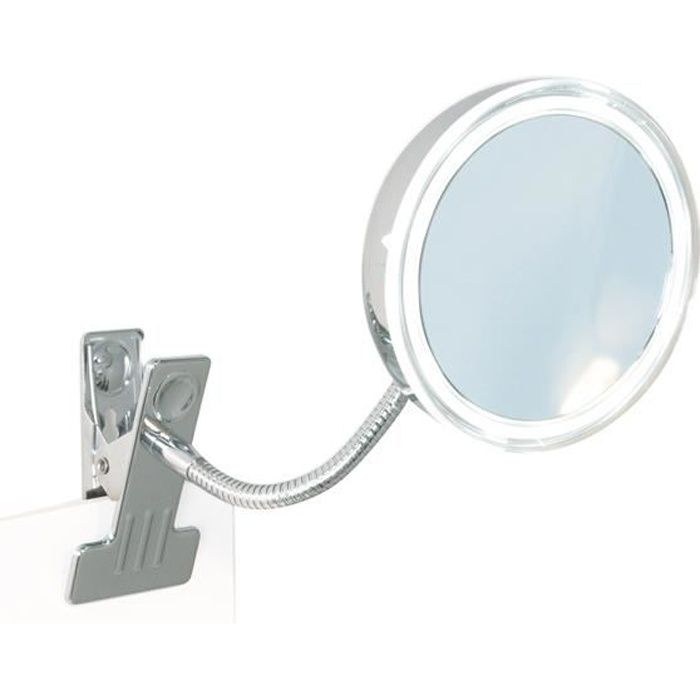 Miroir grossissant 5x lumineux pince achat vente for Miroir grossissant lumineux x10
