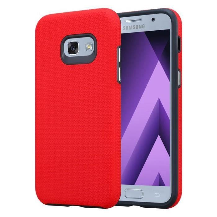 Cadorabo Coque pour Samsung Galaxy A5 2017 en ROUGE OEILLET ...