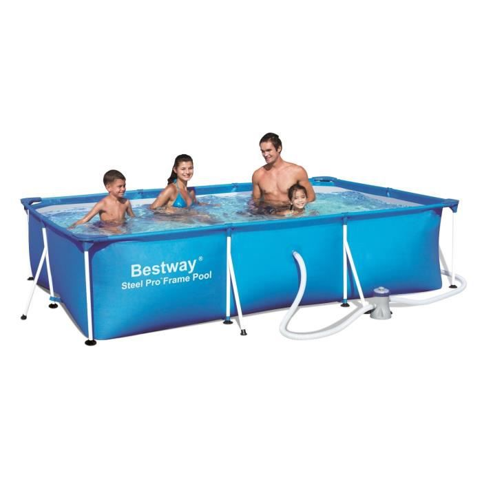Bestway splash frame pool piscine rectangulaire tubulaire 3 x 2 01 x 0 66 m - Piscine tubulaire bestway rectangulaire ...