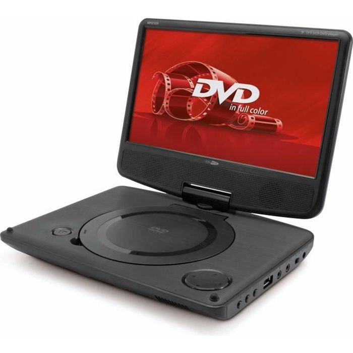 caliber mpd 109 lecteur dvd portable 9 tft led lecteur dvd portable avis et prix pas cher. Black Bedroom Furniture Sets. Home Design Ideas