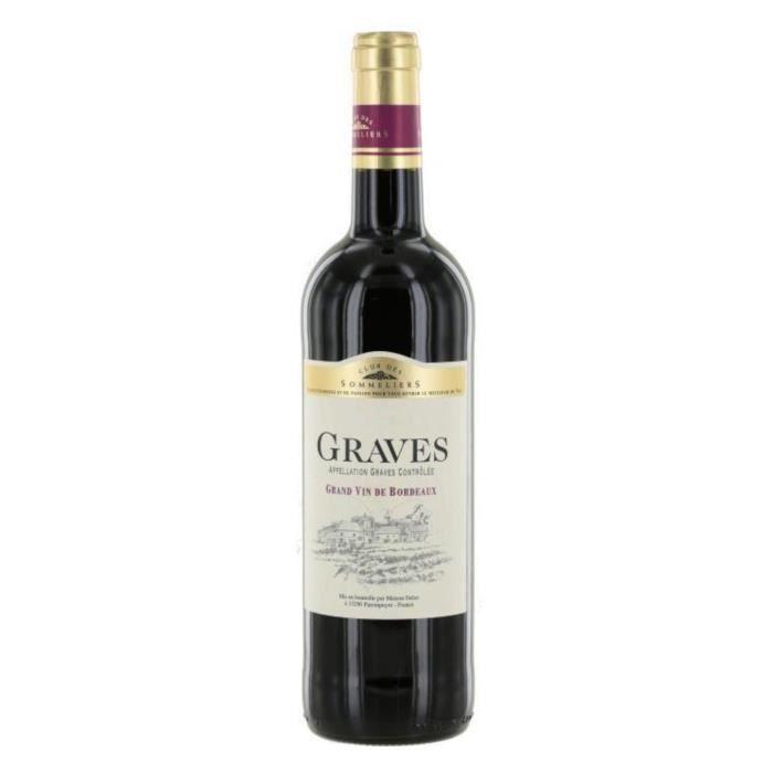 VIN ROUGE Club des Sommeliers 2017 Graves - Vin rouge de Bor