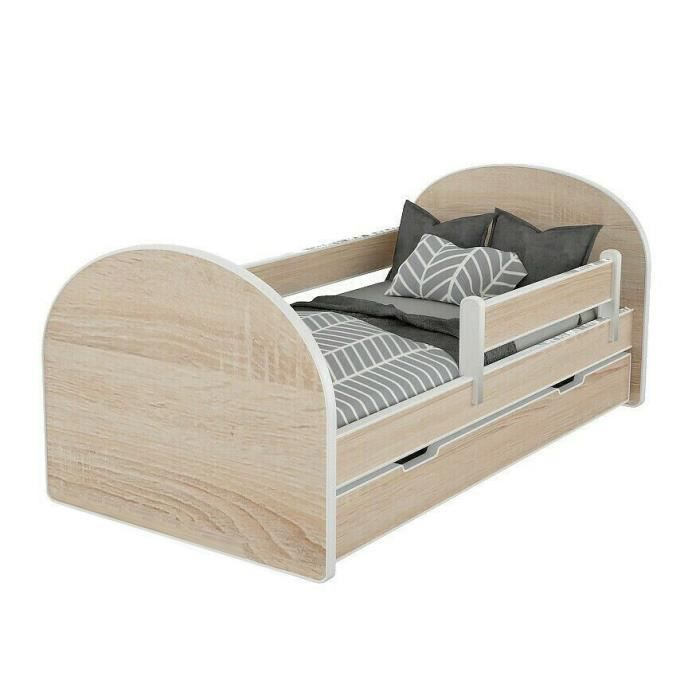 lit enfant 80x160cm avec matelas barre de securite. Black Bedroom Furniture Sets. Home Design Ideas