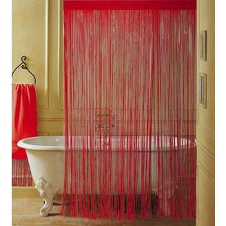 rideau de douche 39 boudoir pvc 39 coloris rouge mati re pvc largeur 180 cm hauteur 200 cm. Black Bedroom Furniture Sets. Home Design Ideas