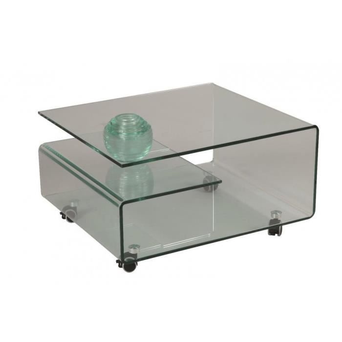 table basse cristallin en verre achat vente table basse table basse cristallin en v. Black Bedroom Furniture Sets. Home Design Ideas