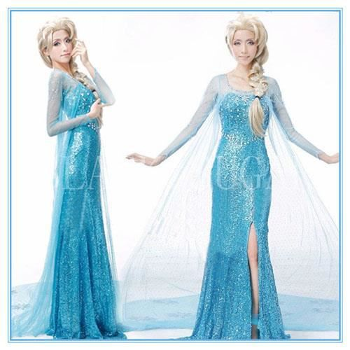 fantastique robe elsa reine des neiges bleu achat vente d guisement panoplie cdiscount. Black Bedroom Furniture Sets. Home Design Ideas