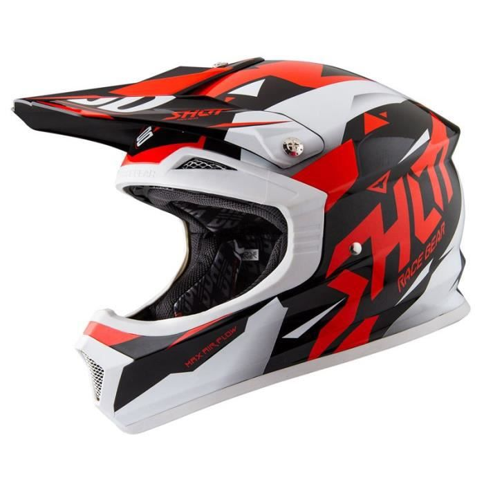 casque cross shot furious splinter noir rouge shot 2016 achat vente casque moto scooter. Black Bedroom Furniture Sets. Home Design Ideas