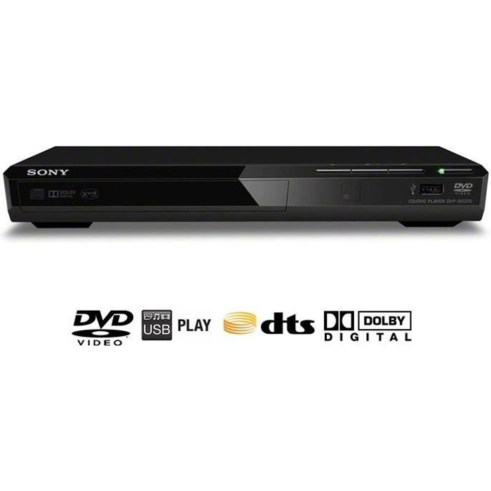 sony dvp sr370b lecteur dvd xvid usb achat vente ensemble home cin ma sony dvp sr370b. Black Bedroom Furniture Sets. Home Design Ideas