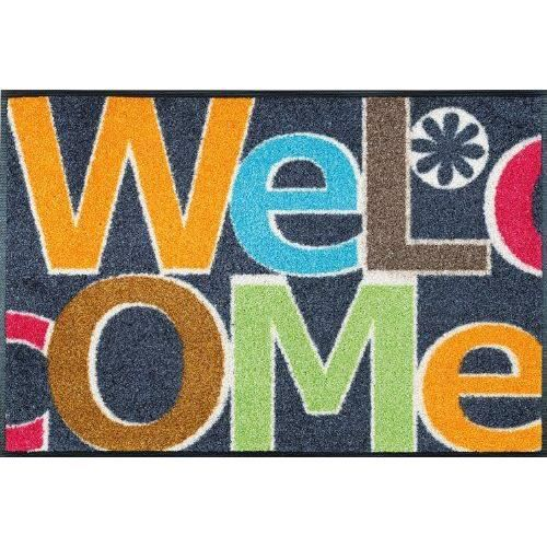 Wash dry 060109 tapis welcome letters nylon caoutchouc for Tapis cuisine wash and dry
