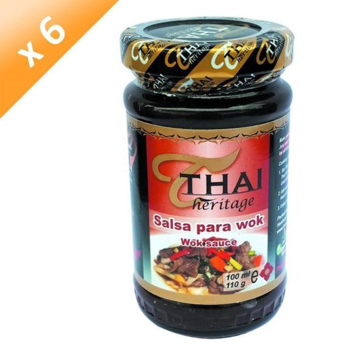 [LOT DE 6] Sauce Wok 110G THAI HERITAGE