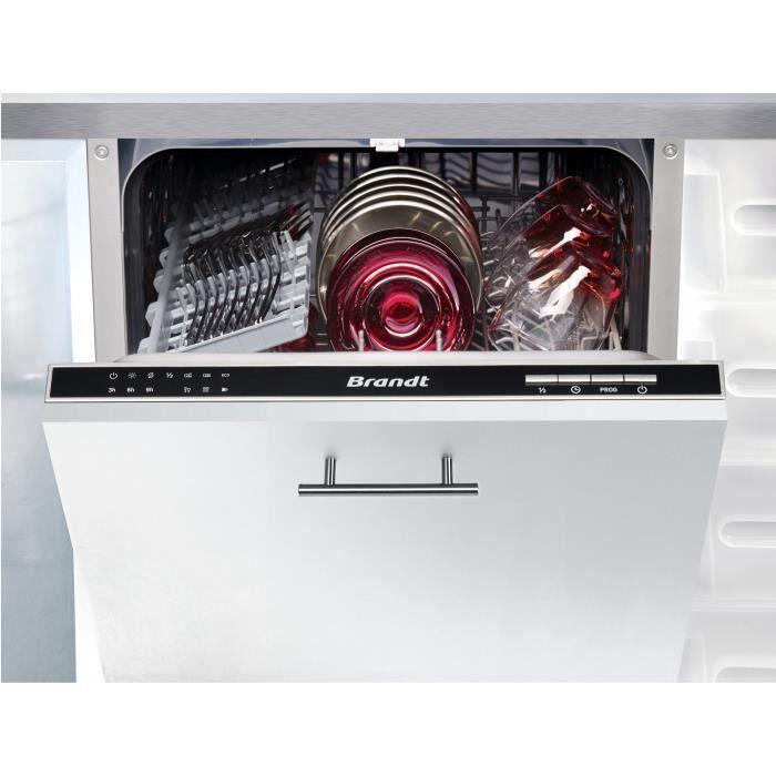 Lave-vaisselle encastrable BRANDT VS1010J - 10 couverts - Largeur 45 cm - Classe A++ - 47 dB