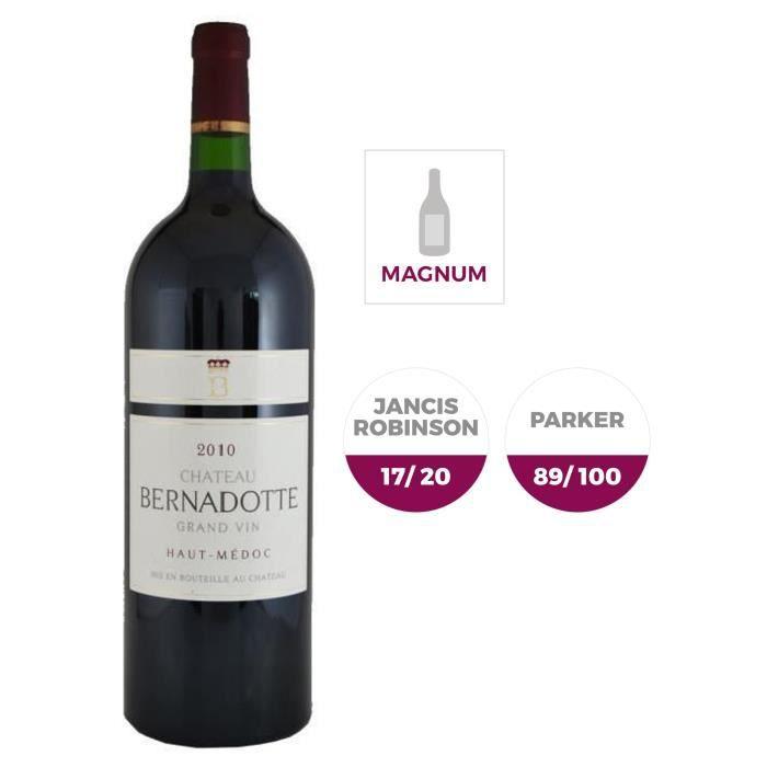 Magnum Château Bernadotte 2010 Haut-Médoc - Vin rouge de Bordeaux