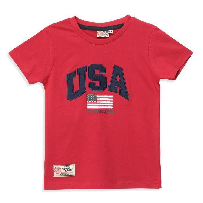 CAMPS - T-shirt manches courtes - Garçon - Rouge