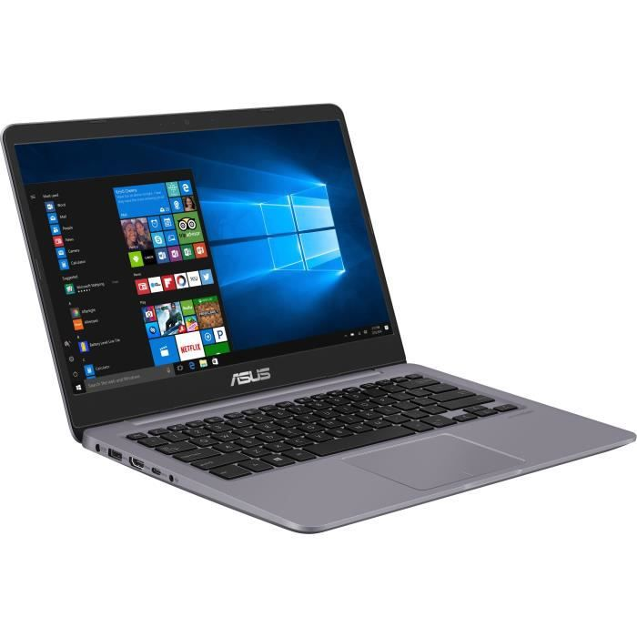 Ordinateur Portable - ASUS VivoBook S401UA-BV810T - 14 pouces - Core i3-6006U - RAM 4Go - Stockage 128Go SSD - Windows 10 S