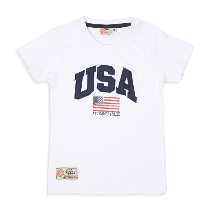 CAMPS - T-shirt manches courtes - Garçon - Blanc