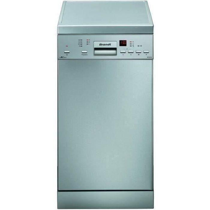 Lave-vaisselle pose libre BRANDT DFS1010X - 10 couverts - Largeur 45 cm - Classe A++ - 47 dB