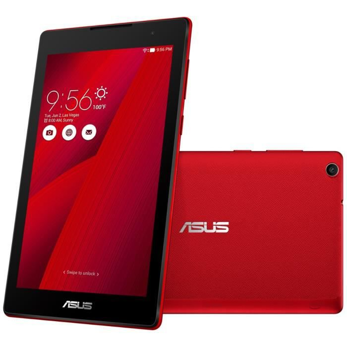 asus tablette tactile zenpad z170c rouge 7 ips 1go. Black Bedroom Furniture Sets. Home Design Ideas