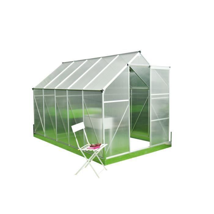 Serre De Jardin Polycarbonate 5 9m Structure Aluminium Et Socle De Fixation Inclus Transparent Achat Vente Serre De Jardinage Serre De Jardin Polycarb 5 9m Cdiscount