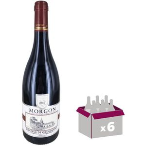 VIN ROUGE GRANDMONT Morgon 2010 - Rouge - 75 cl x 6
