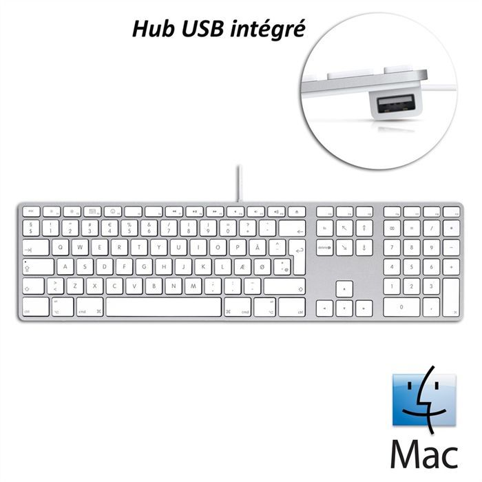 apple clavier filaire usb mb110f prix pas cher cdiscount. Black Bedroom Furniture Sets. Home Design Ideas