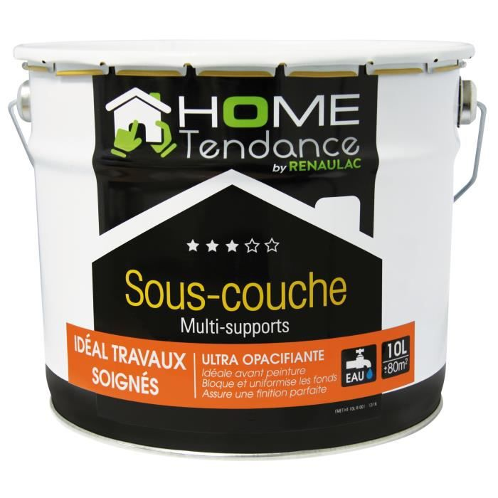 SousCouche MultiSupport Acrylique Mat Blanc L  Home Tendance By