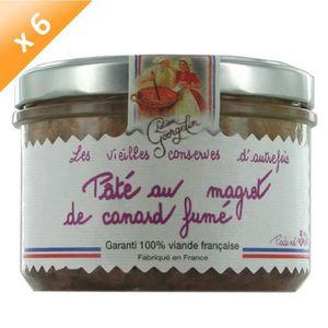 PATÉ - TERRINE Lot de 6 Pâtés au Magret de Canard Fumé 220g LUCIE