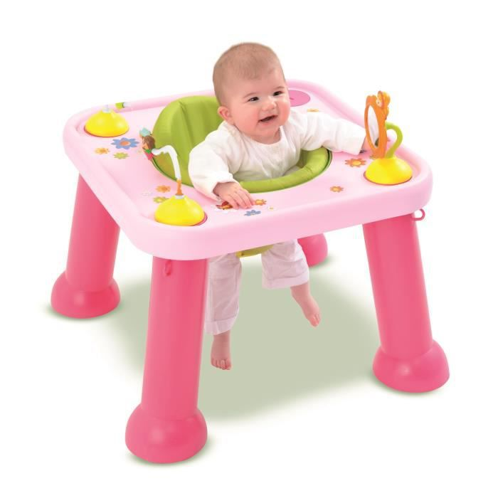 Cotoons si ge d 39 activit s youpi baby rose rose achat - Table evolutive bebe ...