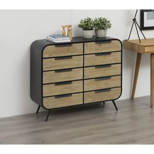 commode industriel achat vente commode industriel pas cher cdiscount. Black Bedroom Furniture Sets. Home Design Ideas