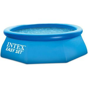 PISCINE INTEX Kit piscine ronde autoportée Easy Set - Ø243