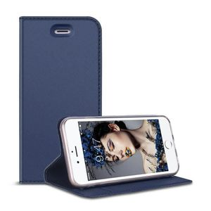 COQUE - BUMPER Housse Coque iphone 6 6s Bleu Rabat Fonction Stand