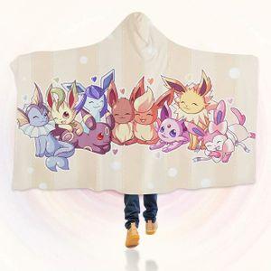 COUVERTURE - PLAID 3D Hooded Blanket for Pokemon 8249  Couverture à C