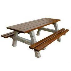 Table pique nique Chilloux beton et bois resine… - Achat ...