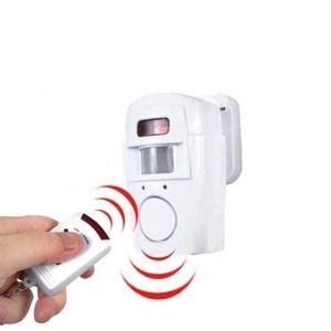 DÉTECTEUR DE MOUVEMENT Alarme détecteur de mouvement et 2 télécommandes B