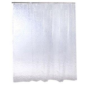 Grand 3D Rideau de douche en plastique clair EVA diamant Cube d/'eau plus épais 34