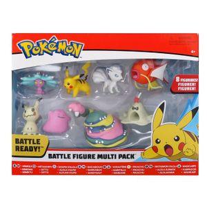 FIGURINE - PERSONNAGE POKEMON - Pack de 8 figurines Pikachu : Mimiqui, V