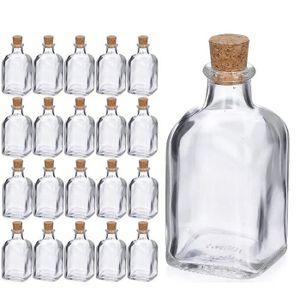 R 10x Bouteille en verre vide petit transparent Bouteilles de message Flacons en verre avec un bouchon en liege SODIAL