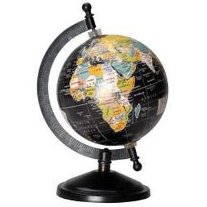 globe terrestre noir petit mod le achat vente statue. Black Bedroom Furniture Sets. Home Design Ideas