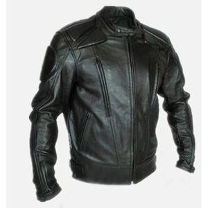 BLOUSON - VESTE Blouson de moto en cuir PU Veste de moto pour homm