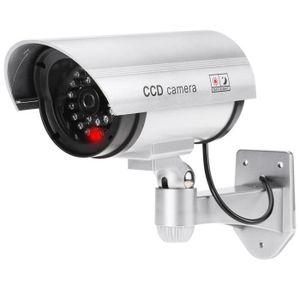 Simulation D?me de s/écurit/é Surveillance de simulation de la cam/éra H/émisph/ère Rouge clignotant LED Cam/éra