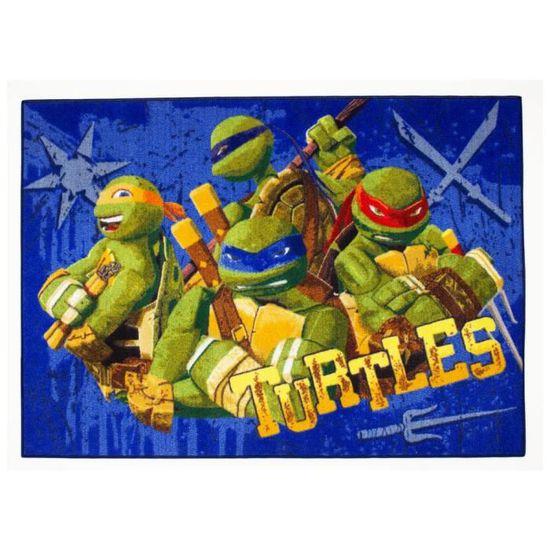 GUIZMAX Tapis Enfant Les Tortues Ninja 133 x 95 cm Disney Ninja Turtles